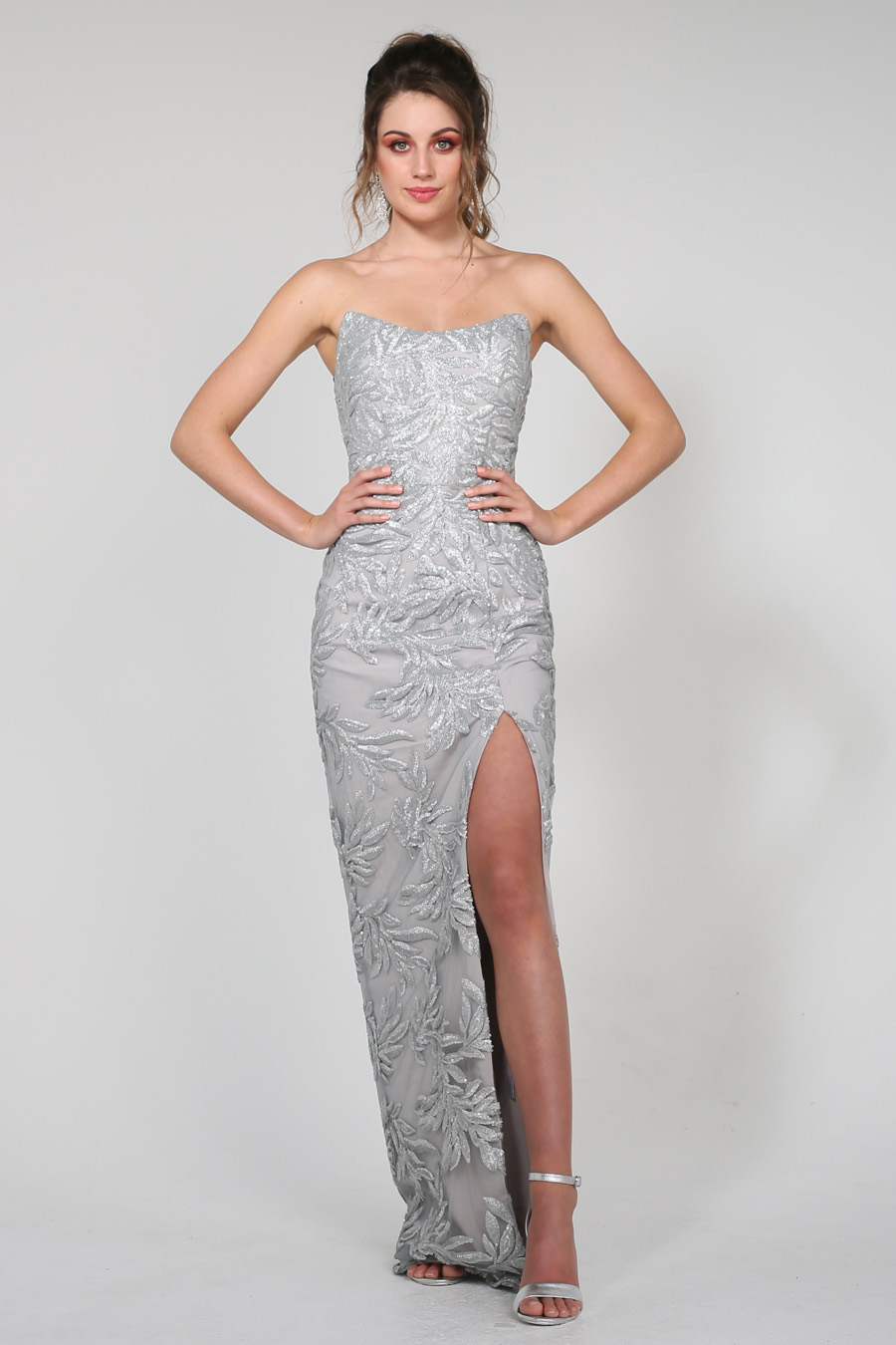 Floor-length Sequin Evening Dress