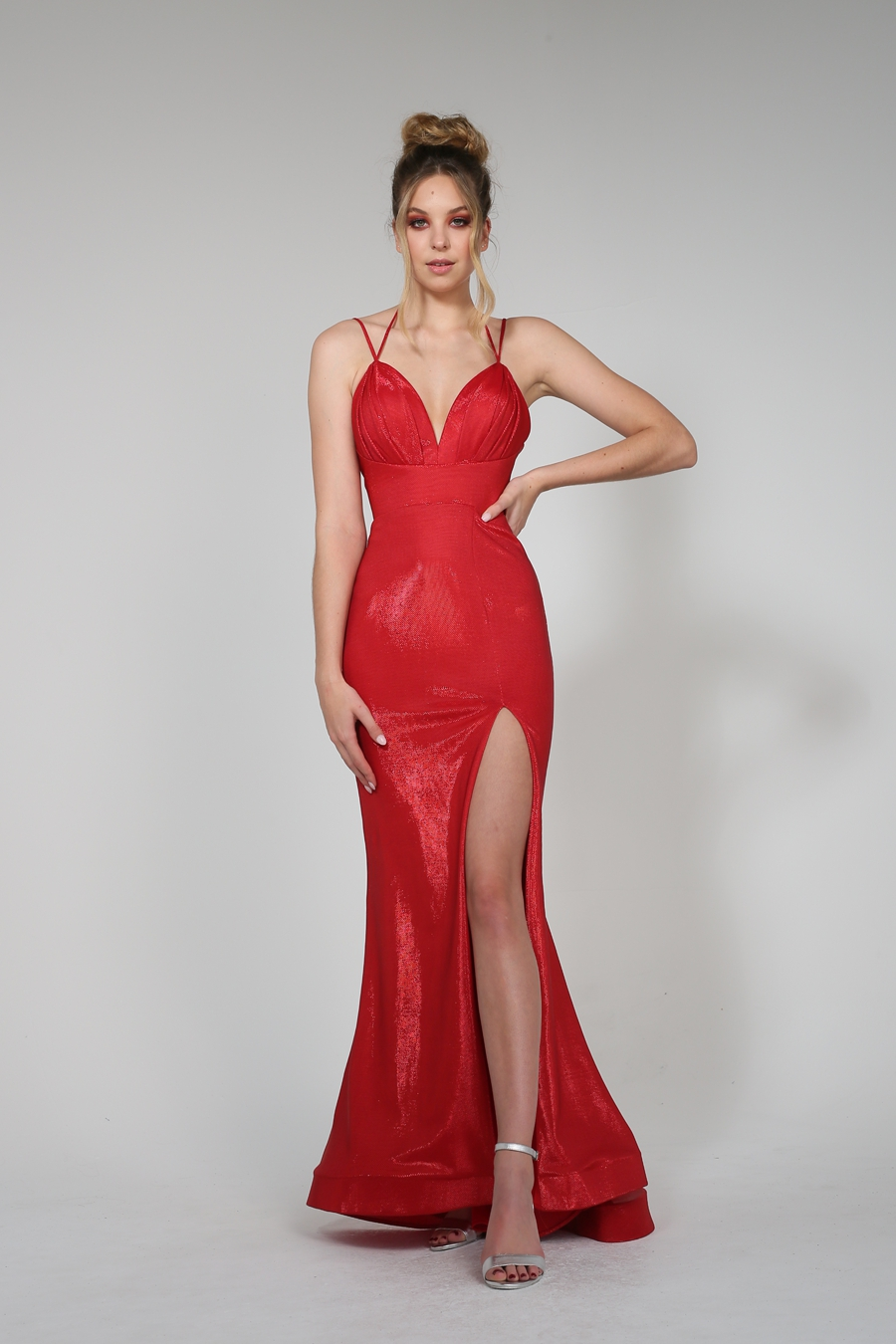 Plunging Neckline Evening Dress