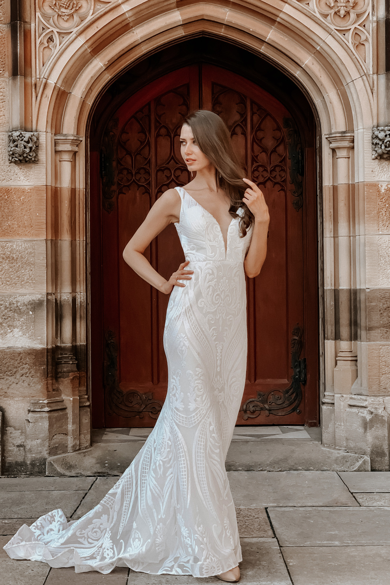 Slim Line Wedding Dresses