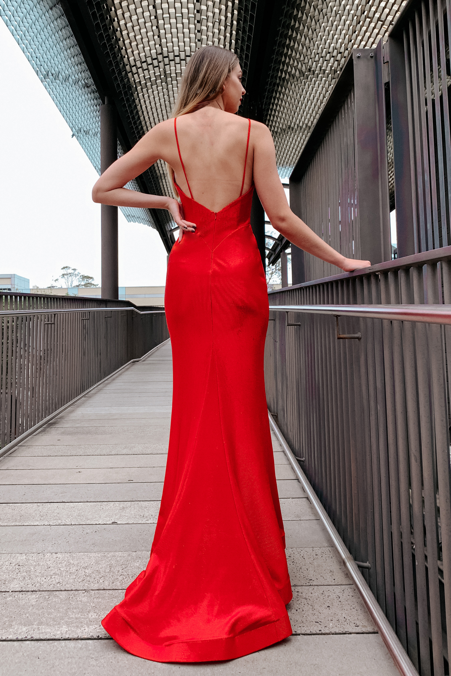 Open-back formal dress