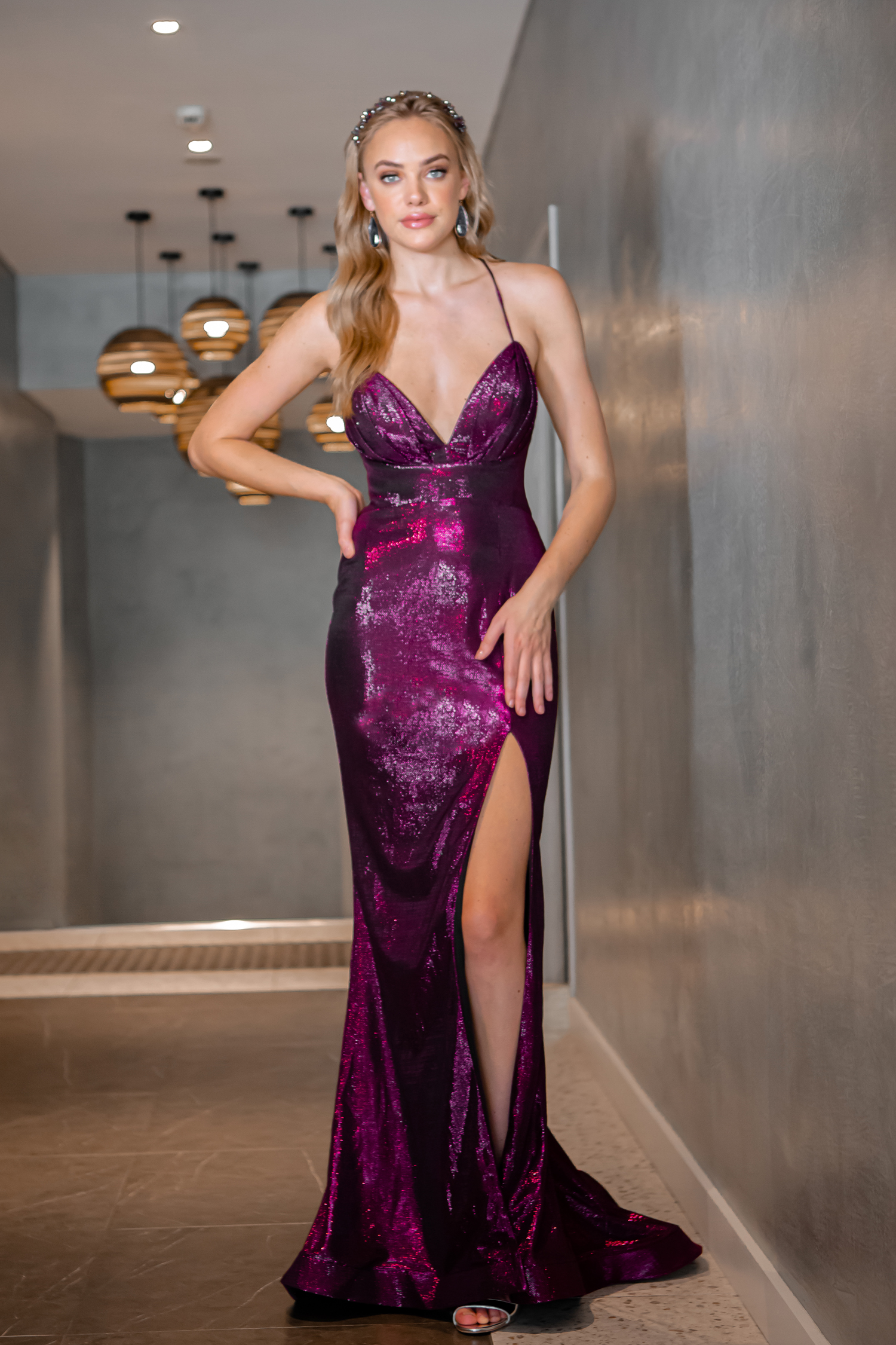 Maxi-length Formal gown